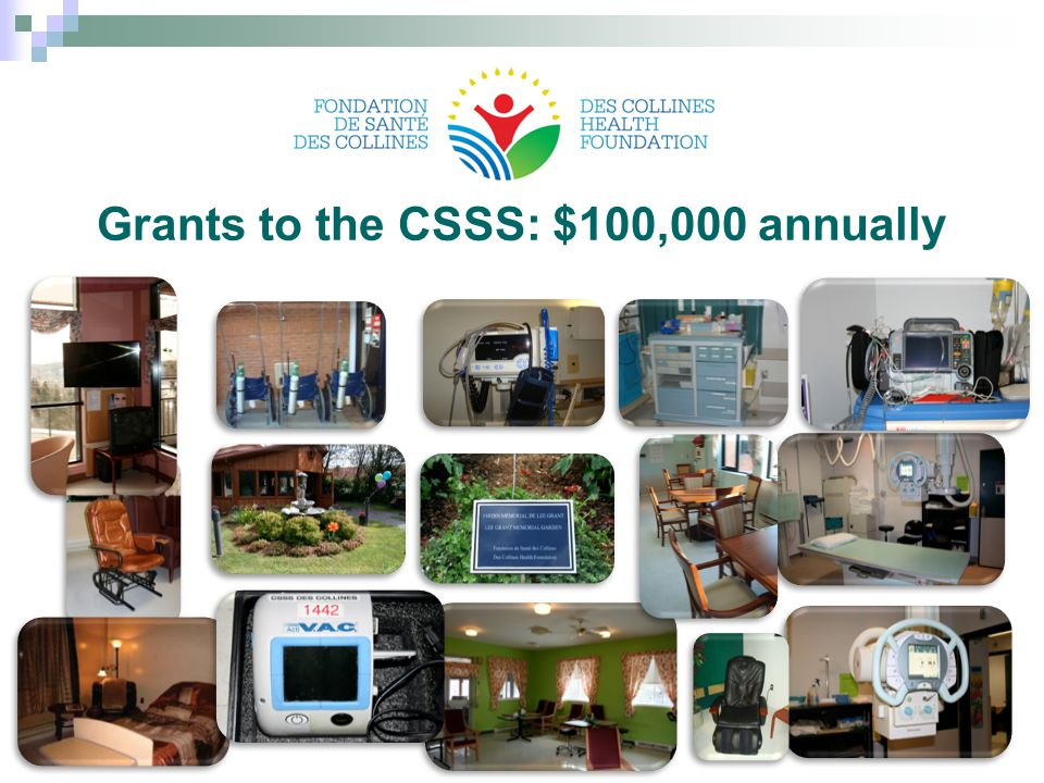 Grants to the CSSS: $100,000 annually 23