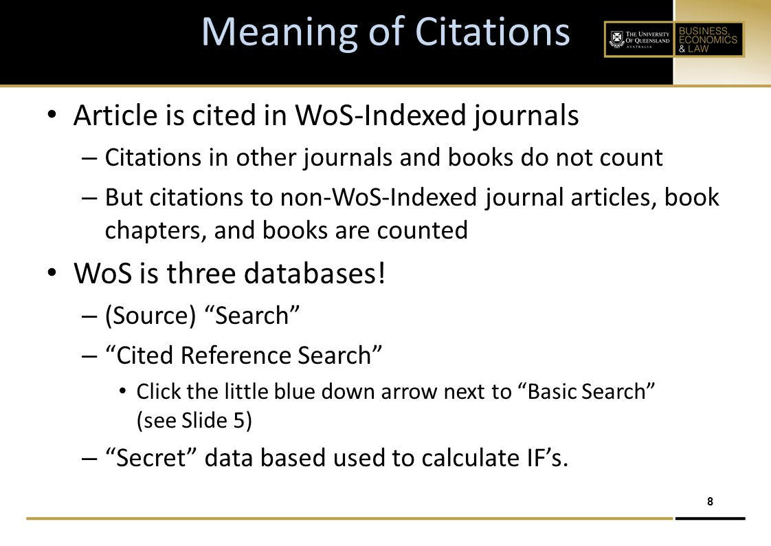 9 Why are articles cited.