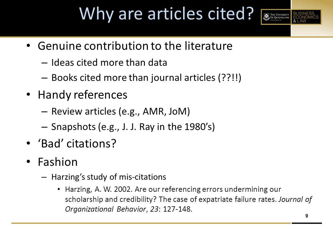 10 Boosting Your Citations Publish in the top-tier journals Write quality articles that attract attention and interest Advertise Self-cite (!!??) Contact Thomson Reuters re.