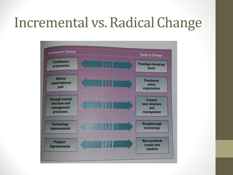 Incremental vs. Radical Change