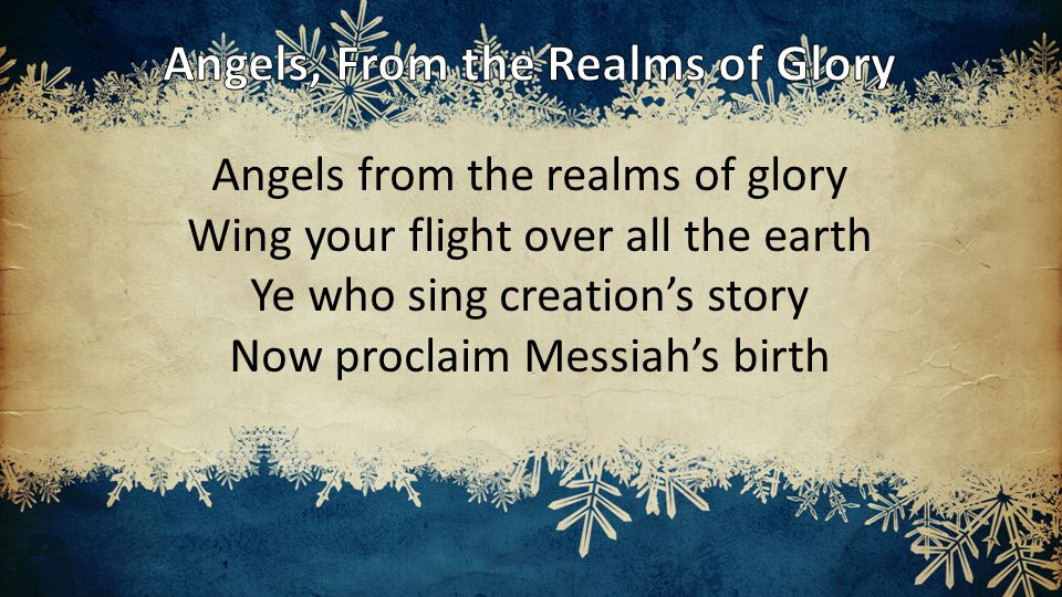Unto you a child is born Unto us a Son is given Let every heart prepare His throne Let every nation under Heaven Come and worship do not be afraid