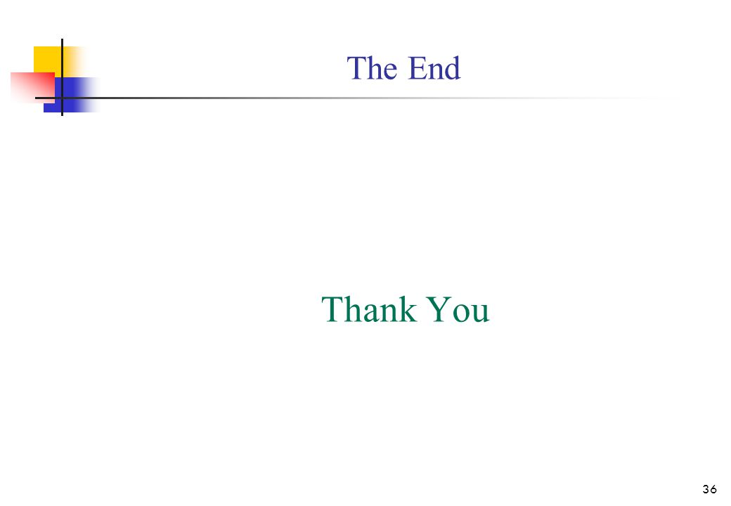 The End Thank You 36