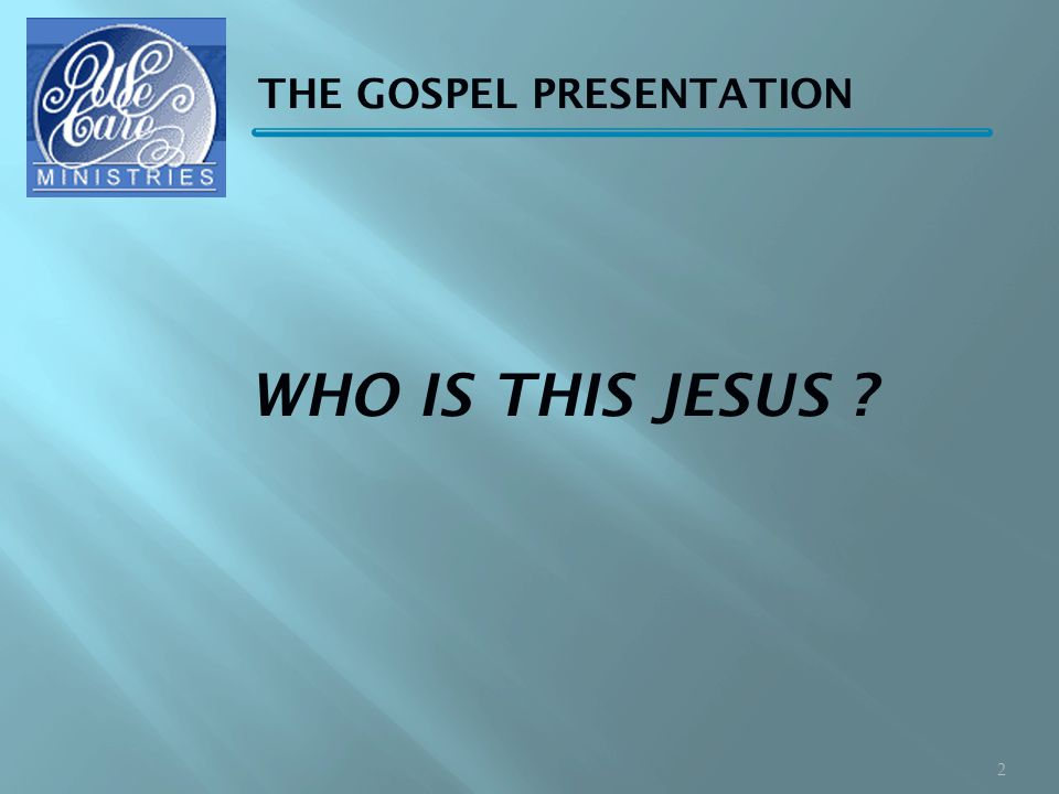 WHO IS THIS JESUS 2