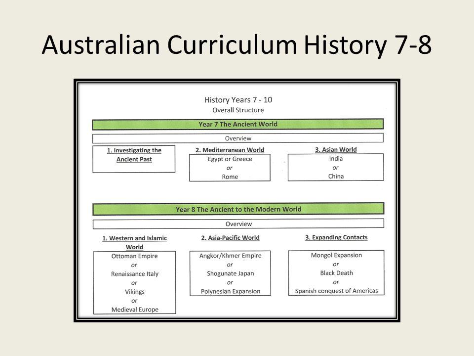Australian Curriculum History 7-8