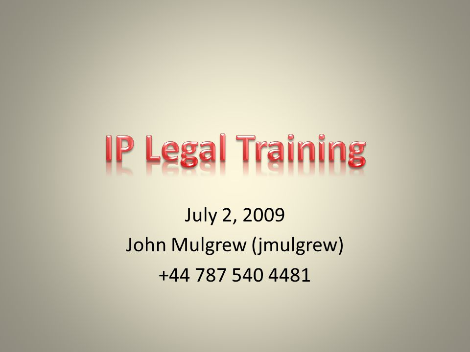 Today's Goals Learn and refresh knowledge of IP laws and Microsoft guidelines and processes through real world scenarios Informal Q&A  as we go.