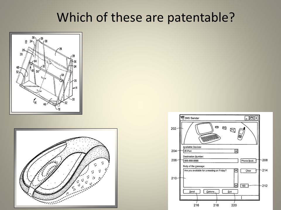 Which of these are patentable