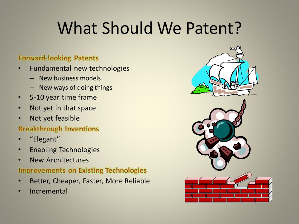 What Should We Patent?