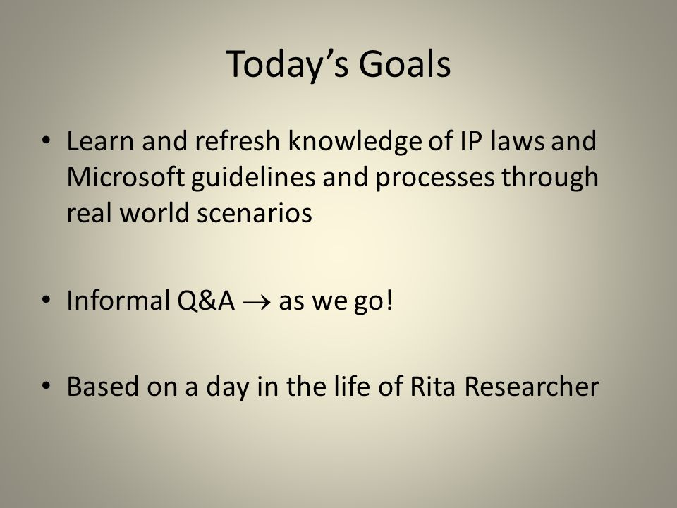 Today's Roadmap Why file patents.