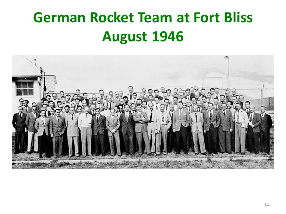 German Rocket Team at Fort Bliss August 1946 11
