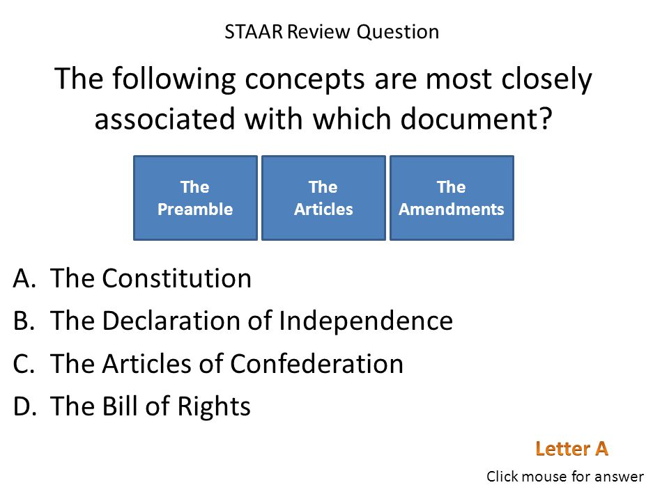 The following concepts are most closely associated with which document.