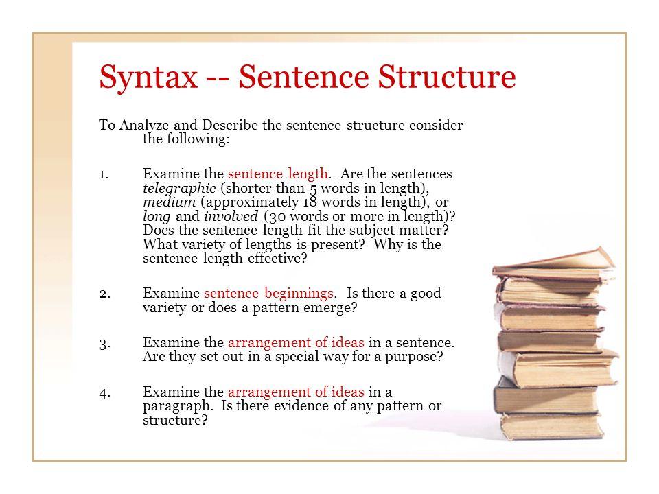 5.Examine Sentence Patterns.