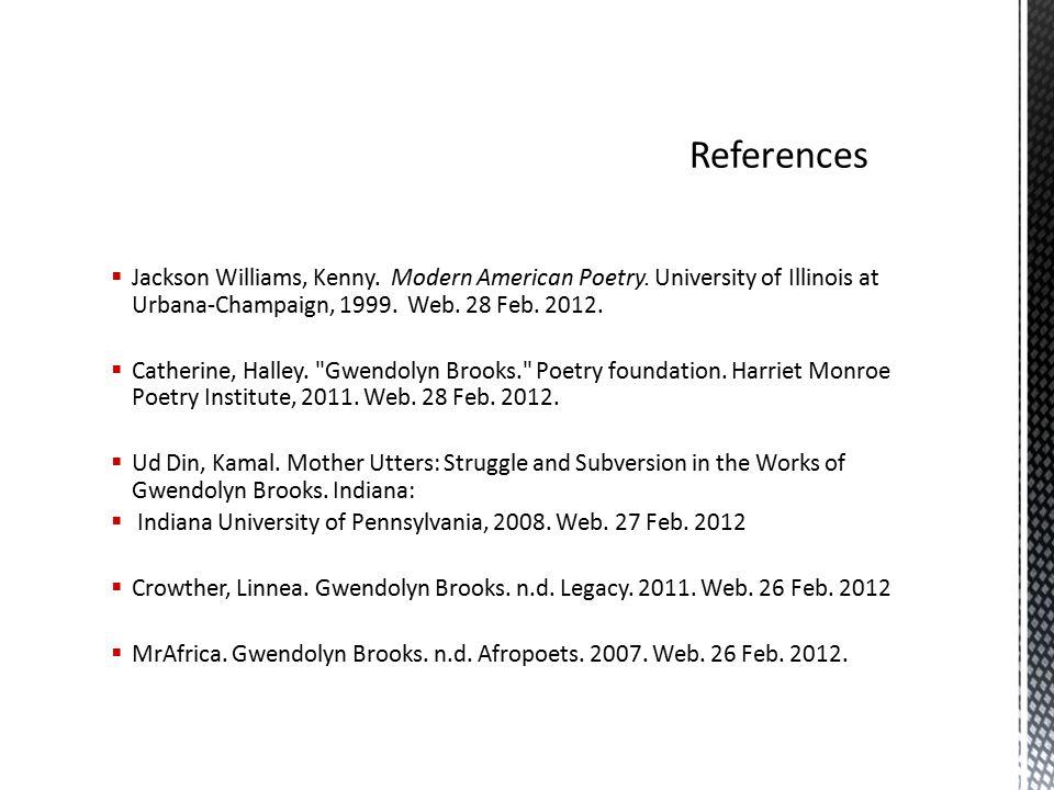  Jackson Williams, Kenny. Modern American Poetry.