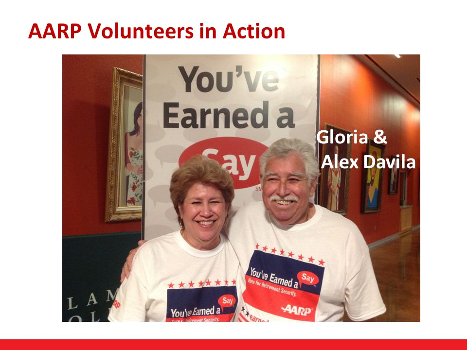 21 AARP Volunteers in Action Gloria & Alex Davila