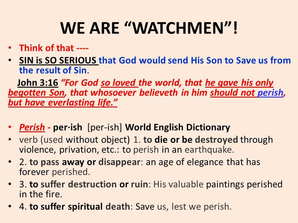 WE ARE WATCHMEN .