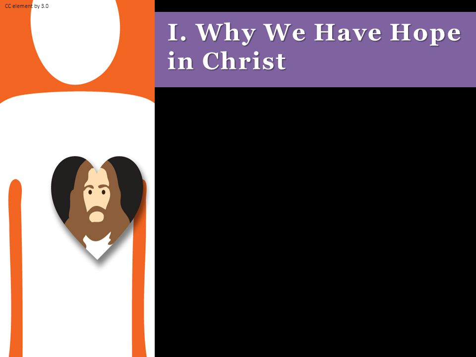 I. Why We Have Hope in Christ CC element by 3.0