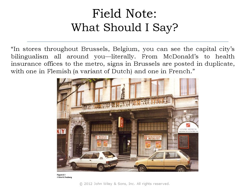 """Field Note: What Should I Say? """"In stores throughout Brussels, Belgium, you can see the capital city's bilingualism all around you—literally. From McD"""