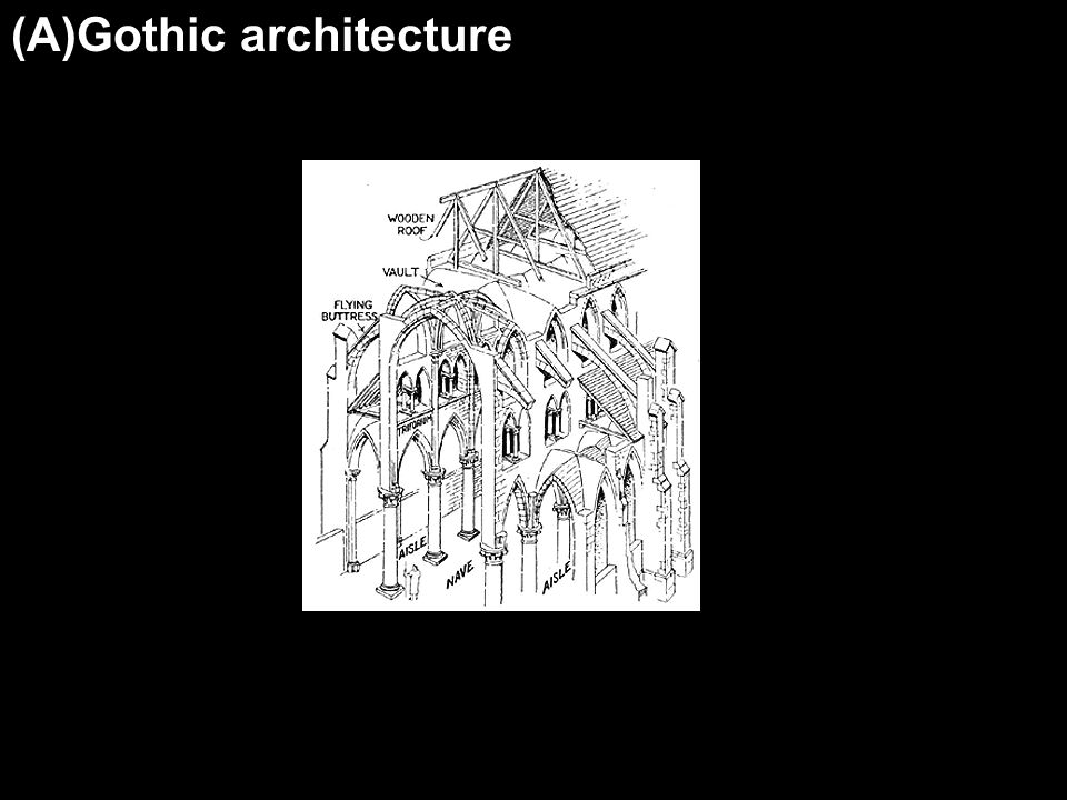 (A)Gothic architecture