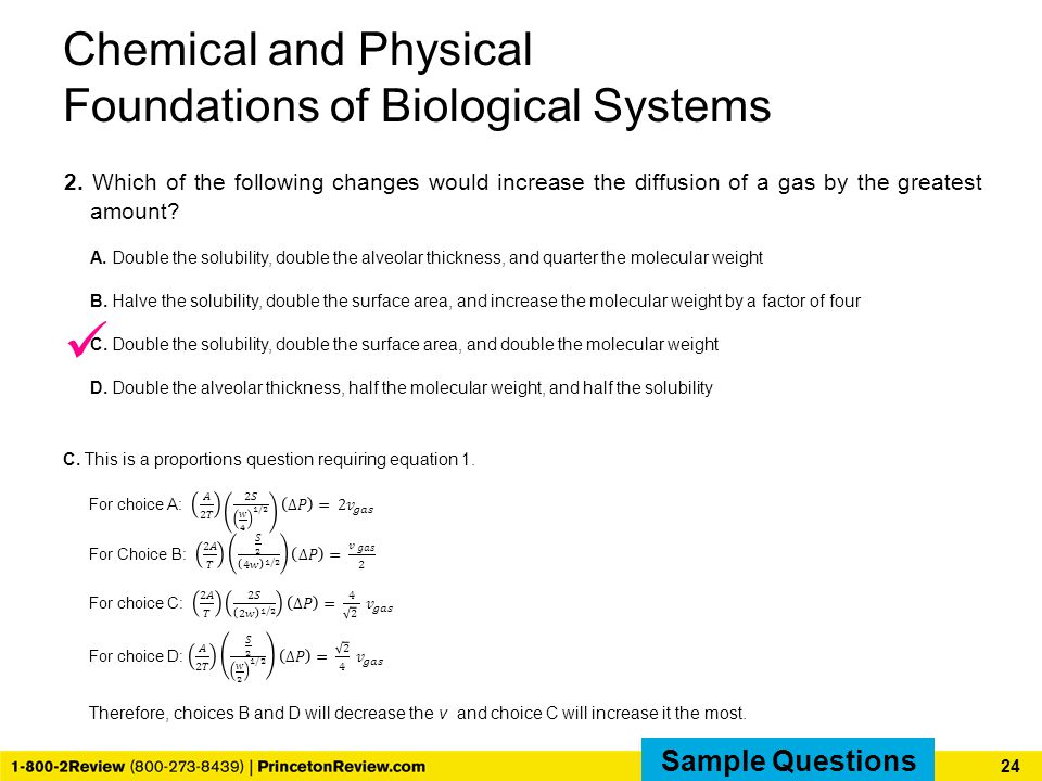 Chemical and Physical Foundations of Biological Systems 2.