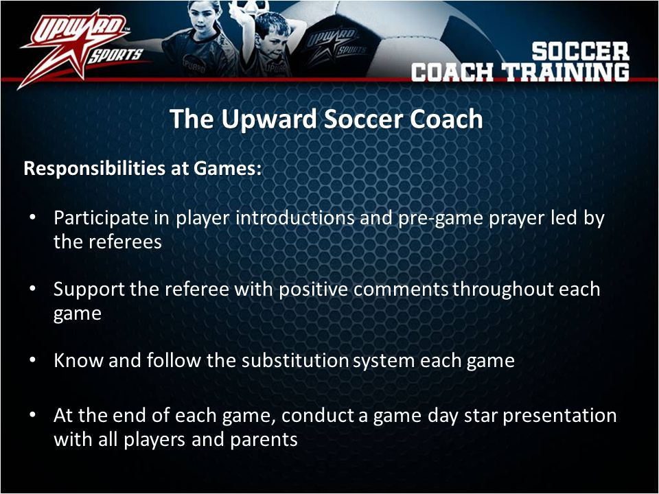 Rules for Upward Soccer Fouls will result in either an indirect or direct kick.