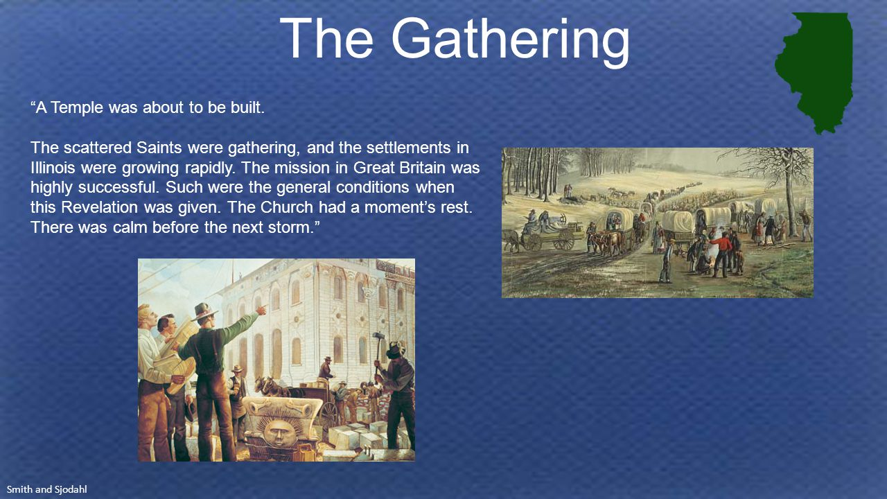 The Gathering A Temple was about to be built.