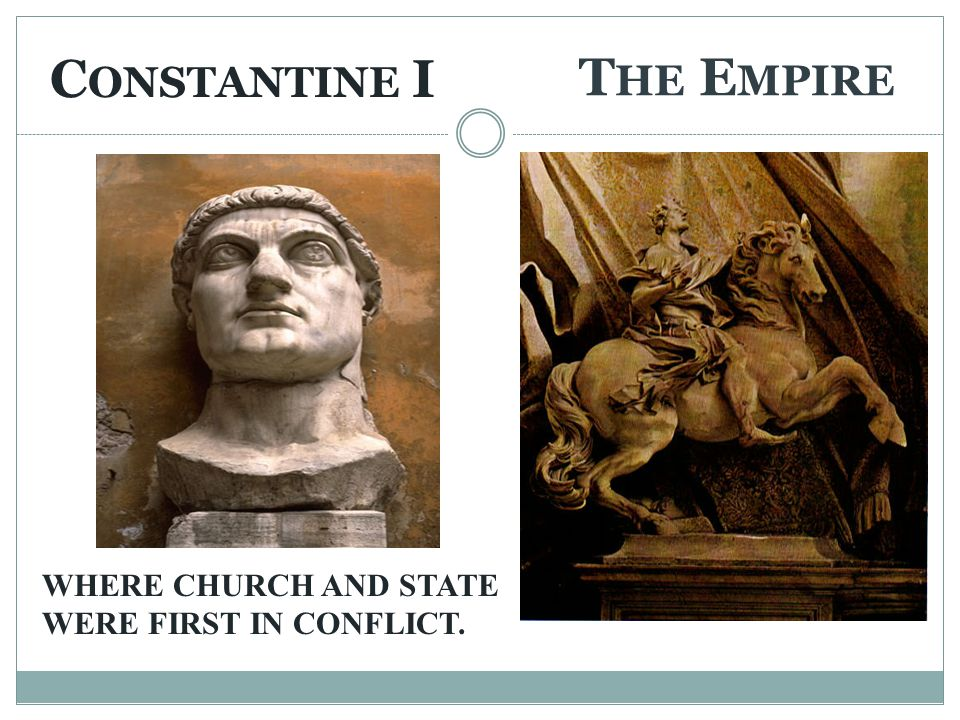 CAUSE OF THE STRUGGLE BETWEEN THE PAPACY AND THE EMPIRE In the 8 th Century the Papal claim to temporal power was justified by the DONATION OF CONSTANTINE which stated that the emperor, had given power of the empire to the Pope before leaving for Byzantium.