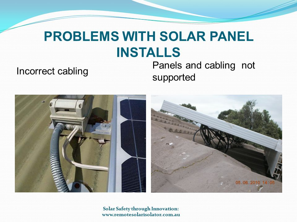 LINE DIAGRAM OF STANDARD RSI INSTALLATION Solar Safety through Innovation: www.remotesolarisolator.com.au