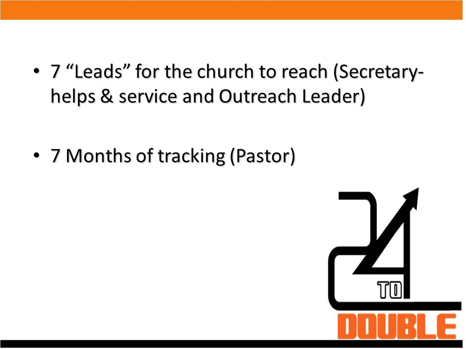 "7 ""Leads"" for the church to reach (Secretary- helps & service and Outreach Leader)‏ 7 ""Leads"" for the church to reach (Secretary- helps & service and"