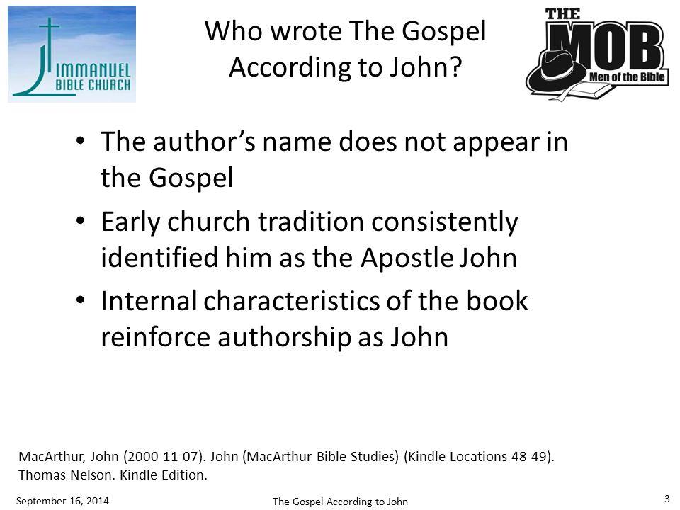 Who was John.