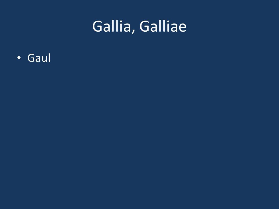 Gallia, Galliae Gaul