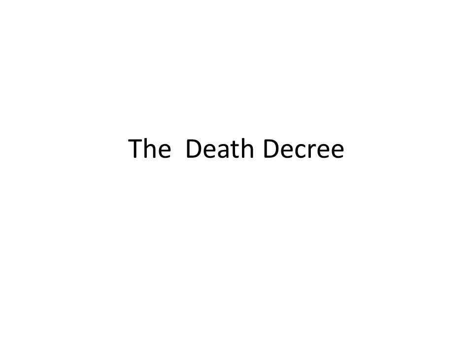The Death Decree