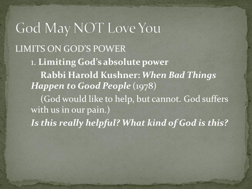LIMITS ON GOD'S POWER 2.