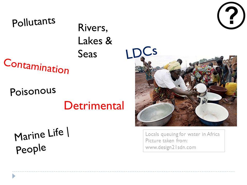 Sewage Households   Industries Human Waste   Detergent   Chemicals Treatment Plants Case Study: Molex - $2 Mil Investment to build Plant Remove waste Non- biodegradable substances Expensive Algae growth Aquatic plants below Animals Remain