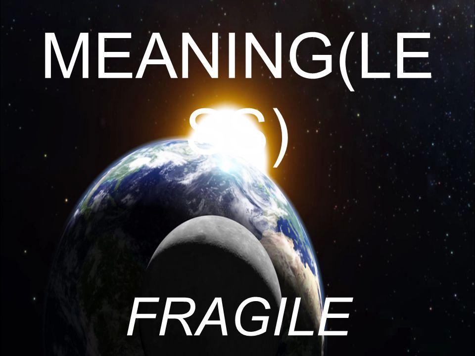 MEANING(LE SS) FRAGILE DEVOTION