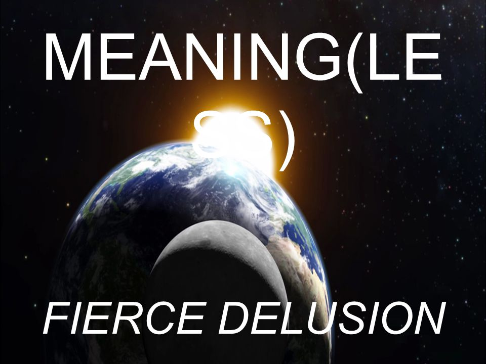 MEANING(LE SS) FIERCE DELUSION