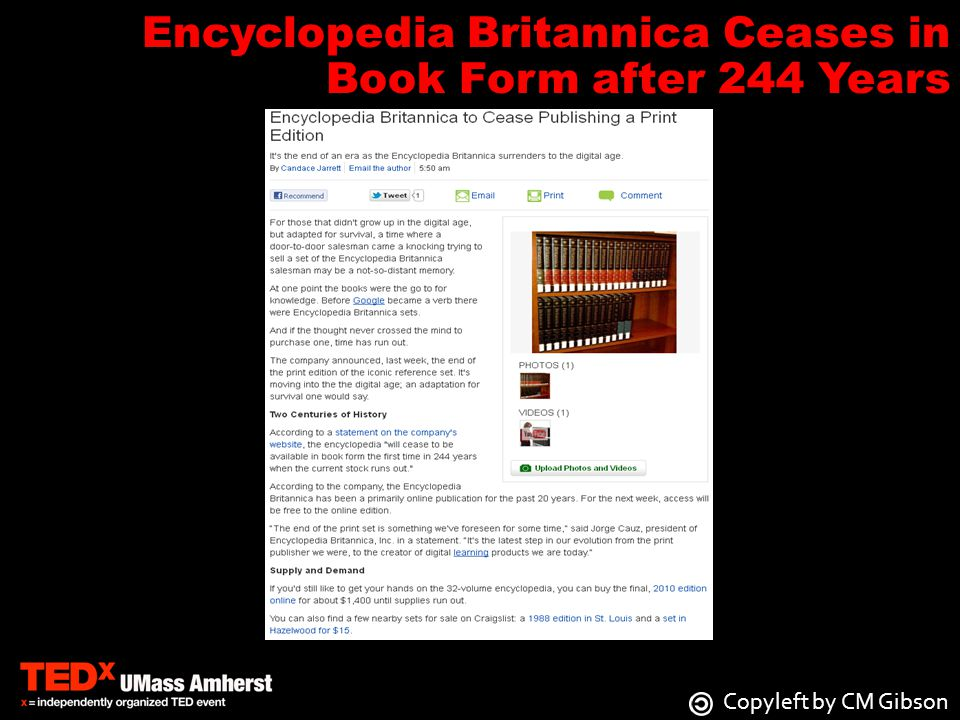 Encyclopedia Britannica Ceases in Book Form after 244 Years
