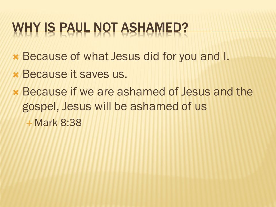  Because of what Jesus did for you and I.  Because it saves us.