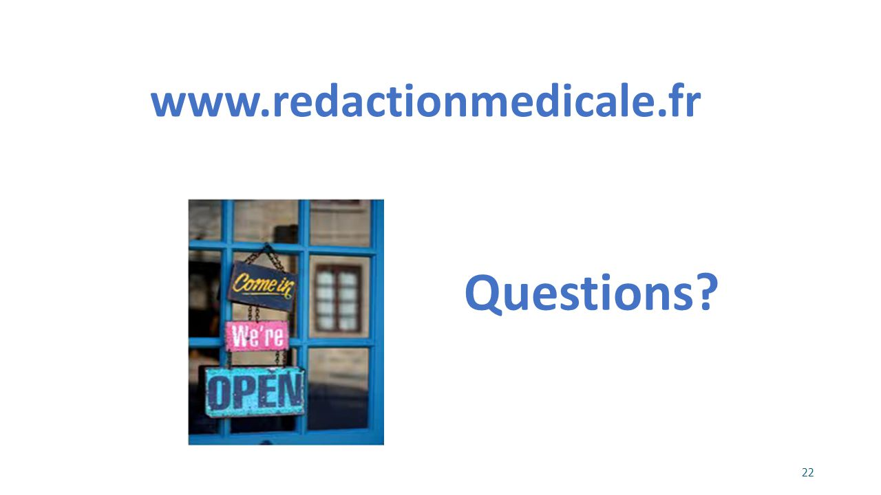 www.redactionmedicale.fr Questions 22