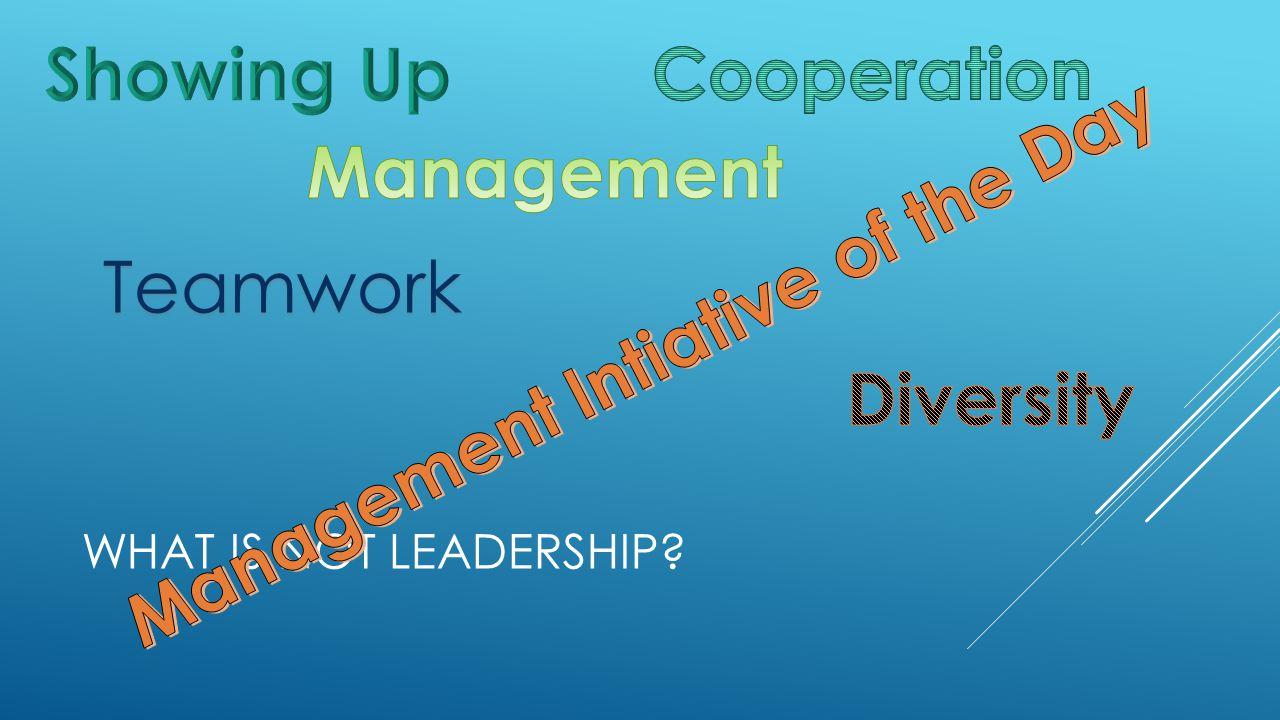 WHAT IS NOT LEADERSHIP Teamwork