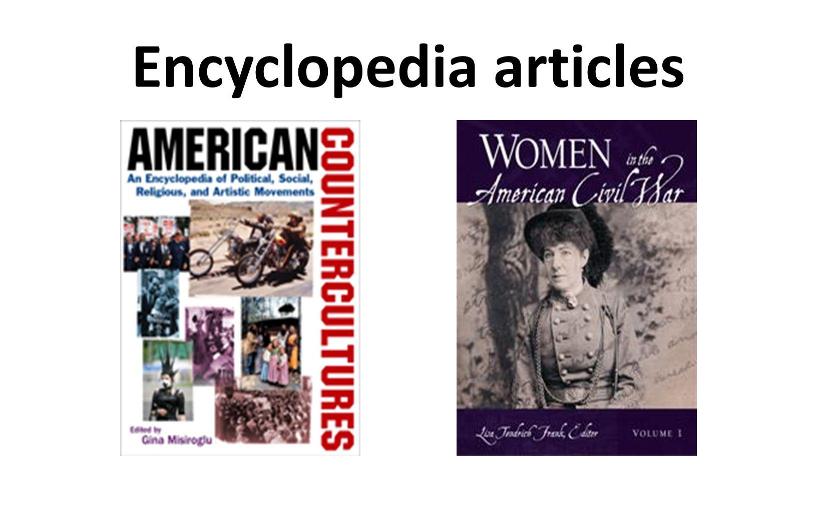 Encyclopedia articles