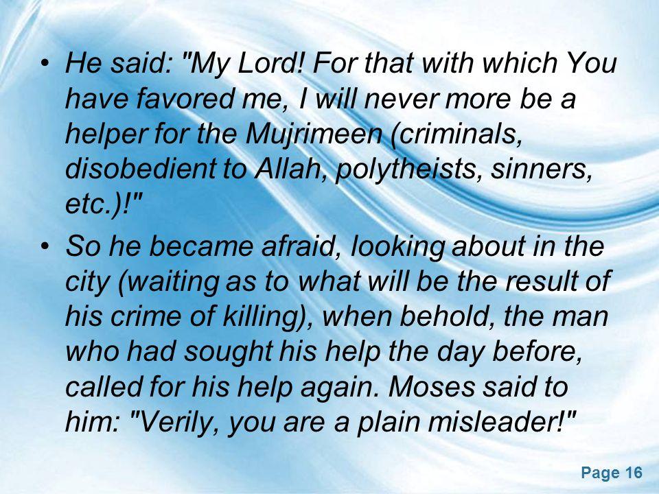Page 16 He said: My Lord.