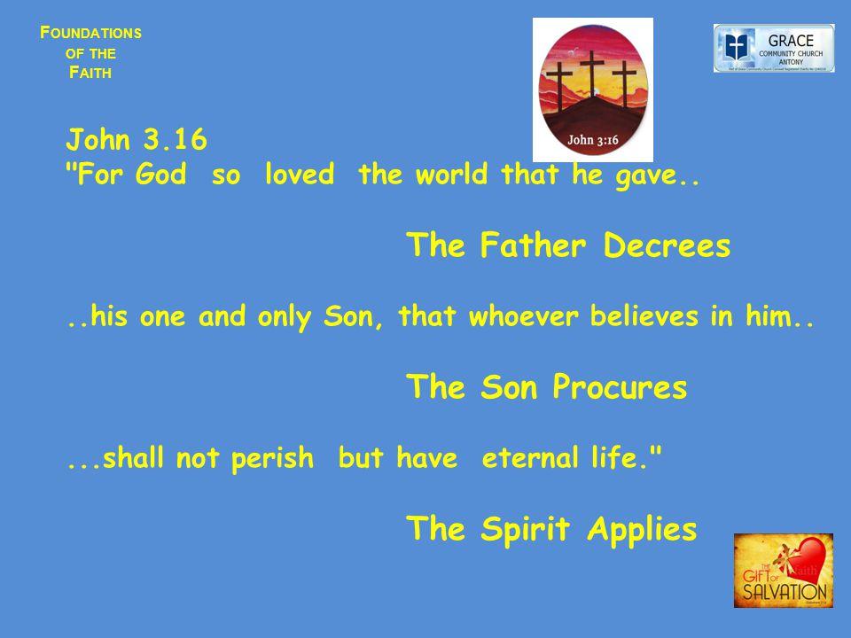 F OUNDATIONS OF THE F AITH John 3.16