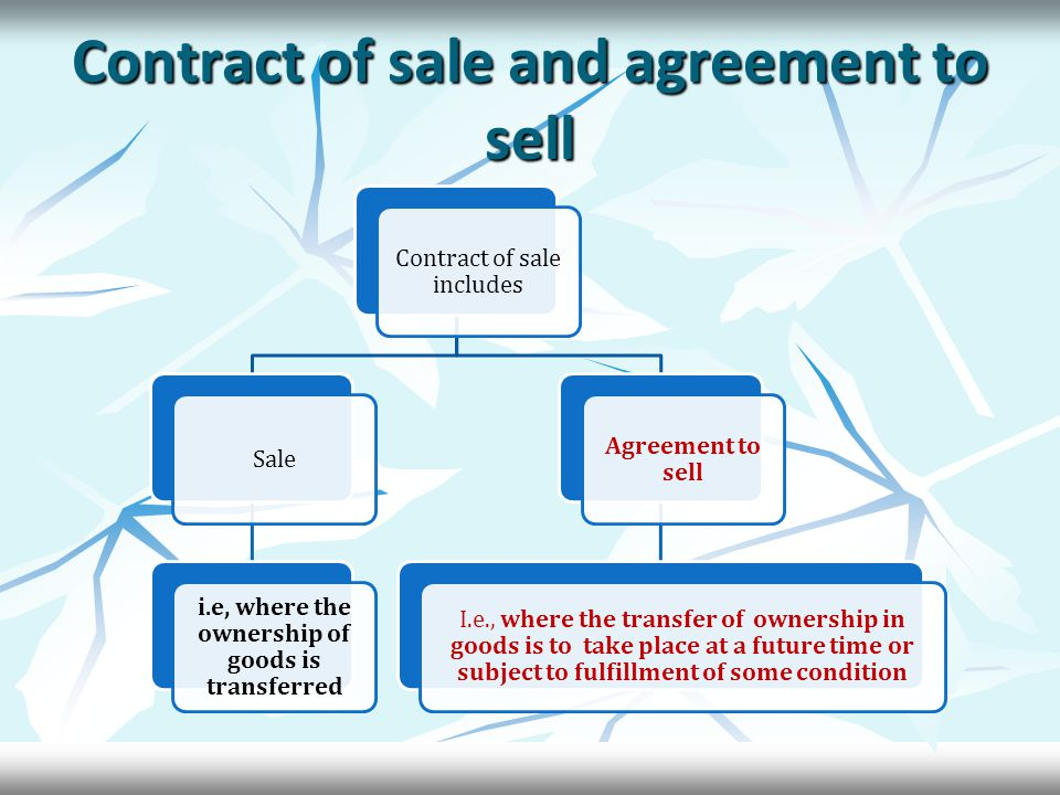 Contd - Where the intention of the parties cannot be ascertained from the contract- Where the intention of the parties cannot be ascertained from the contract- Specific goods – Specific goods – Passing of the property at the time of the contract – Where there is an unconditional contract for the sale of specific goods in a deliverable state, the property in the goods passes to the buyer when the contract is made.