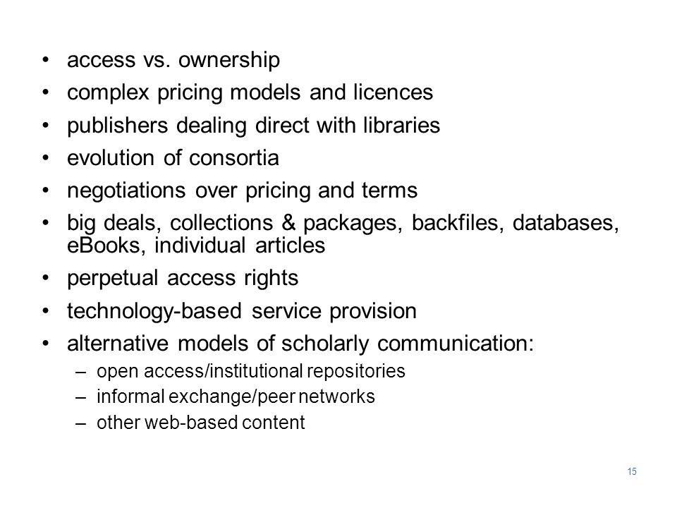 15 access vs.