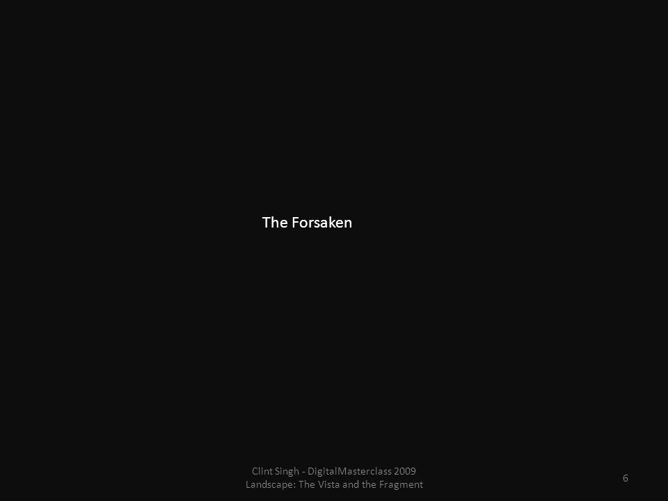 The Forsaken 6 Clint Singh - DigitalMasterclass 2009 Landscape: The Vista and the Fragment