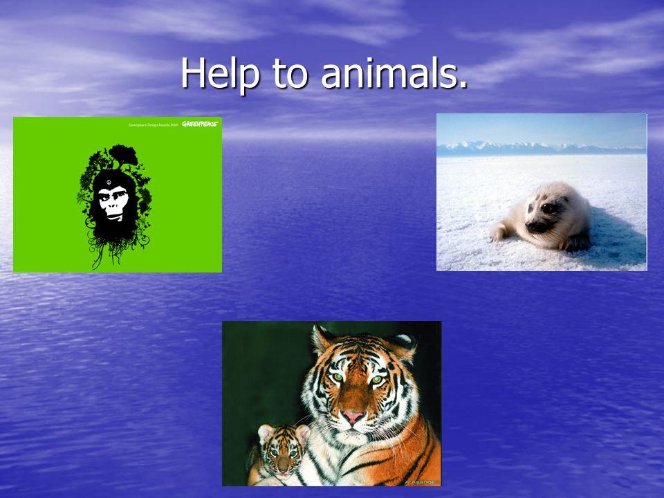 Help to animals. Help to animals.