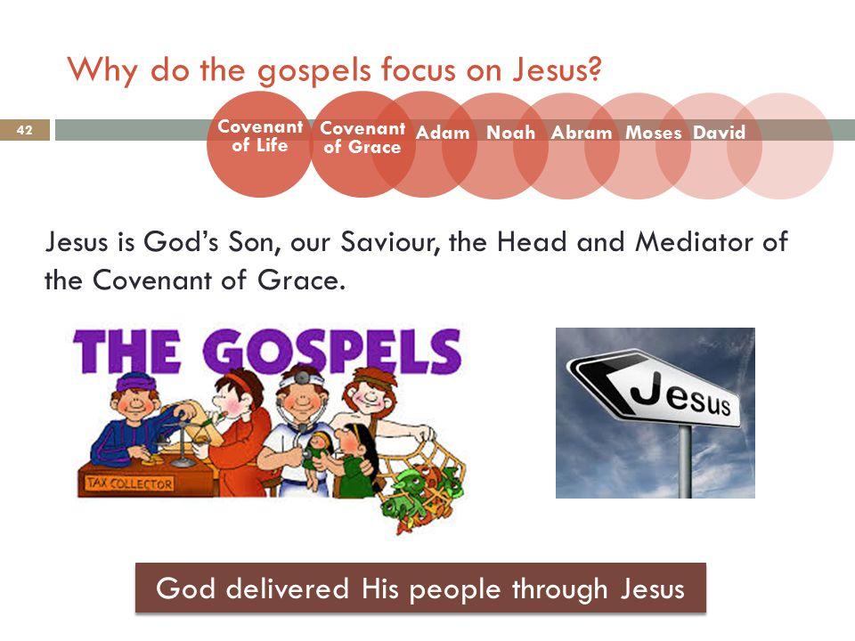 Why do the gospels focus on Jesus.
