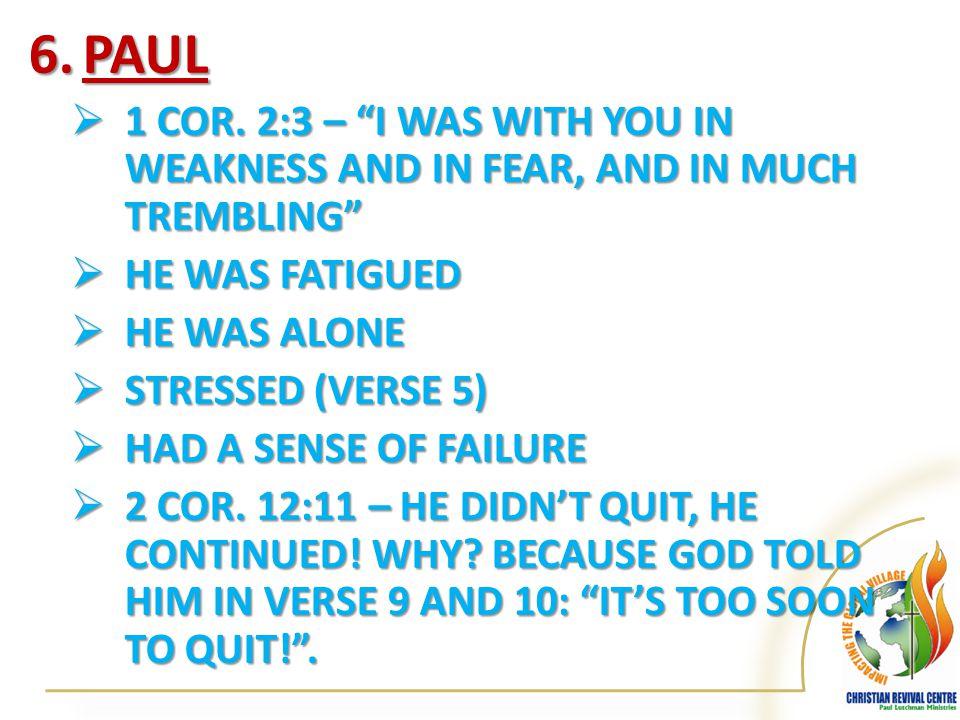 6.PAUL  1 COR.