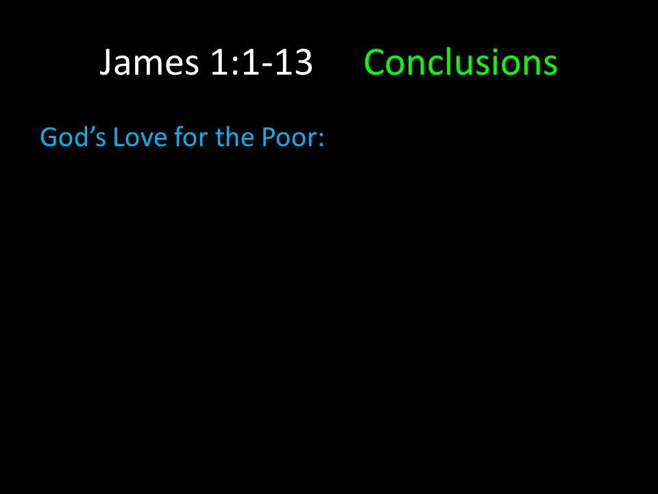 God's Love for the Poor: