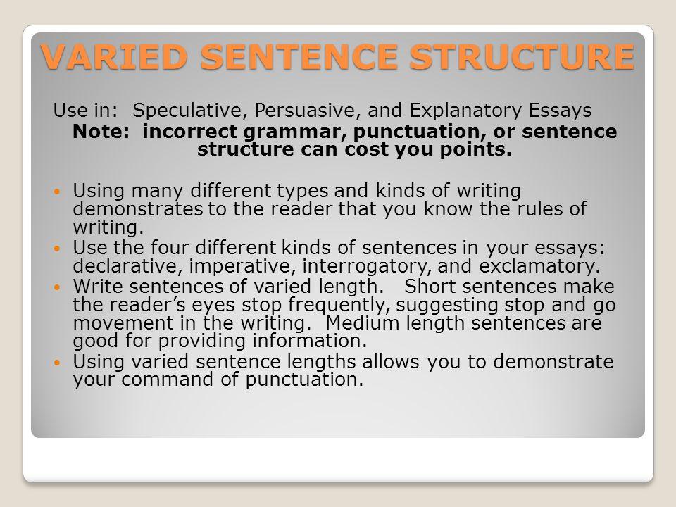VIVID DESCRIPTION Use in: speculative, persuasive, and explanatory essays.