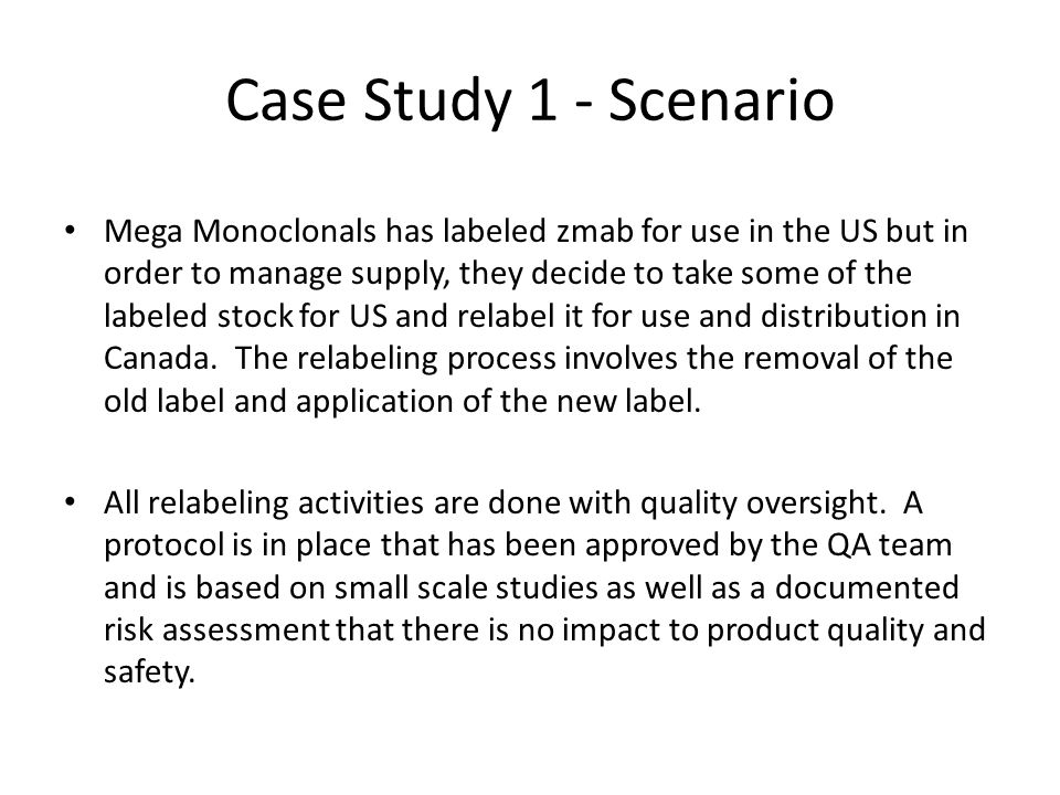 Case Study 1 - Questions 1.Is this considered reprocessing.